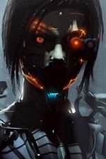 cyborg, robô, menina, fantasia, imagens criativas