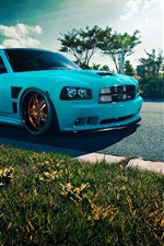 Dodge Charger SRT8 blue car