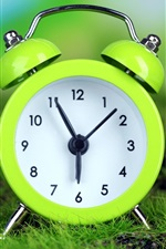 Preview iPhone wallpaper Green alarm clock