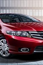 Preview iPhone wallpaper Honda City, red car