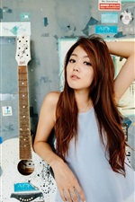Preview iPhone wallpaper Hong Kong girl, guitar, music