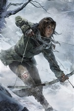 Preview iPhone wallpaper Rise of the Tomb Raider, winter forest