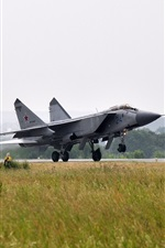 Preview iPhone wallpaper The MiG-31, fighter, taking off