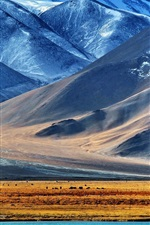 Preview iPhone wallpaper The Pamir mountains, lake, snow