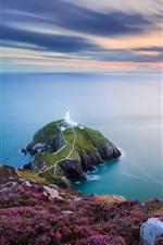 Wales, Irish sea, lighthouse