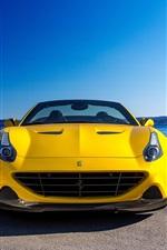 iPhone fondos de pantalla 2015 Pininfarina Ferrari California vista frontal superdeportivo amarilla