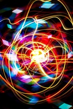 Preview iPhone wallpaper Abstract colors, curved lines, light