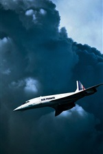 Preview iPhone wallpaper Air France, British-French supersonic passenger plane