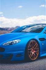 iPhone fondos de pantalla Aston Martin Vantage V12 coche azul