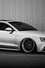 Preview iPhone wallpaper Audi S5 silver car side view
