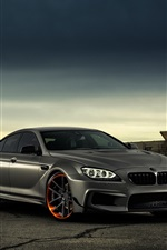 Preview iPhone wallpaper BMW M6 matte black car