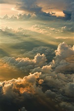 Preview iPhone wallpaper Clouds, morning, sunrise