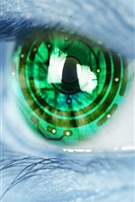 Preview iPhone wallpaper Creative pictures, green eyes