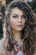 Preview iPhone wallpaper Curly hair fashion girl