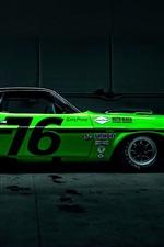 미리보기 iPhone 배경 화면 닷지 챌린저 녹색 자동차 경주