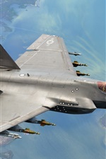 Preview iPhone wallpaper F-35C aircraft flight, weapons