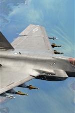 iPhone壁紙のプレビュー F-35Cの航空機の飛行、武器