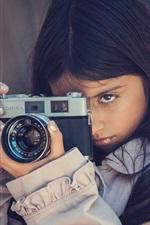 Girl use camera, Konica