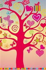 미리보기 iPhone 배경 화면 나는 당신, 사랑 나무, 마음을 사랑