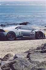 iPhone fondos de pantalla Lamborghini LP620-2 Huracan superdeportivo