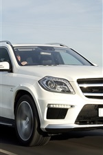 Preview iPhone wallpaper Mercedes-Benz GL63 AMG white car