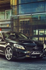 Mercedes-Benz S-Class black car, Lorinser, Germany brand