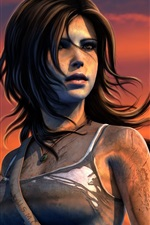 Preview iPhone wallpaper PC game, Lara Croft, Tomb Raider, sunset
