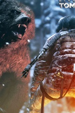 Preview iPhone wallpaper Rise of the Tomb Raider, angry bear