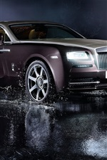 iPhone fondos de pantalla Rolls-Royce de coches de lujo, luces, agua