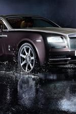 Preview iPhone wallpaper Rolls-Royce luxury car, lights, water