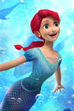 Vorschau des iPhone Hintergrundbilder The Little Mermaid: Angriff der Piraten 2015 Zeichentrickfilm