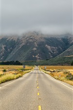 Preview iPhone wallpaper USA, California, road, grass, mountains