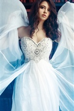 Preview iPhone wallpaper White dress girl, wings