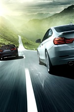 Preview iPhone wallpaper 2014 Alpina BMW 4 Series car speed