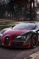 Vorschau des iPhone Hintergrundbilder 2015 Bugatti Veyron Grand Sport Vitesse roten Supersportwagen