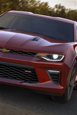 Preview iPhone wallpaper 2015 Chevrolet Camaro SS car front view