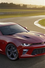 2015 Chevrolet Camaro SS red supercar side view
