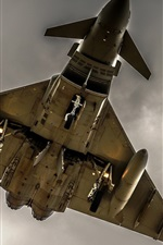 Preview iPhone wallpaper Aircraft, weapons, bomber, bottom view