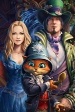 Preview iPhone wallpaper Art paintings, story, characters, cat