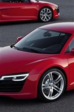미리보기 iPhone 배경 화면 아우디 자동차 붉은 색