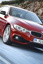 BMW fourth series red color car speed