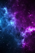 Preview iPhone wallpaper Beautiful space, stars, planets, cosmos
