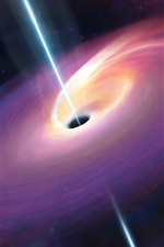 Preview iPhone wallpaper Black hole, space, universe