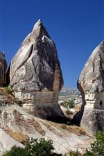 Preview iPhone wallpaper Cappadocia, Turkey, mountains, rocks