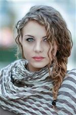 Curly hair fashion girl, bokeh