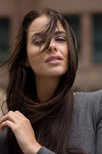 Preview iPhone wallpaper Long hair girl in the wind