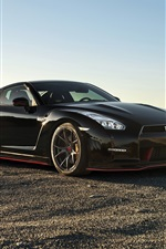 Nissan GT-R black supercar