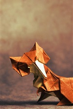 Preview iPhone wallpaper Origami art, fox