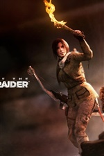 Preview iPhone wallpaper Rise of the Tomb Raider, Lara Croft, torch