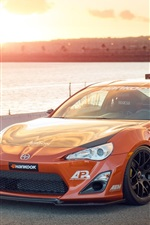 Preview iPhone wallpaper Toyota Scion FS-R orange supercar